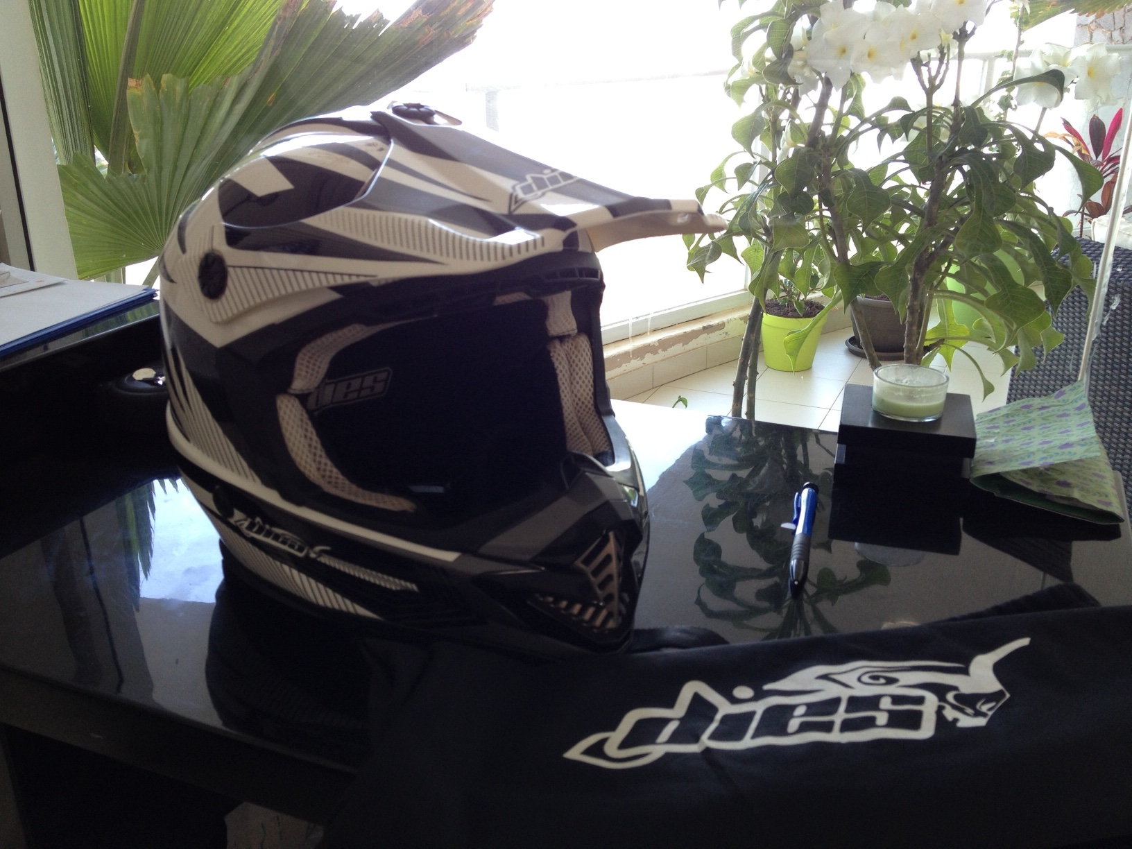 Casque de moto